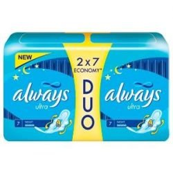 Podpaski Always Ultra Night DUO 14 szt.